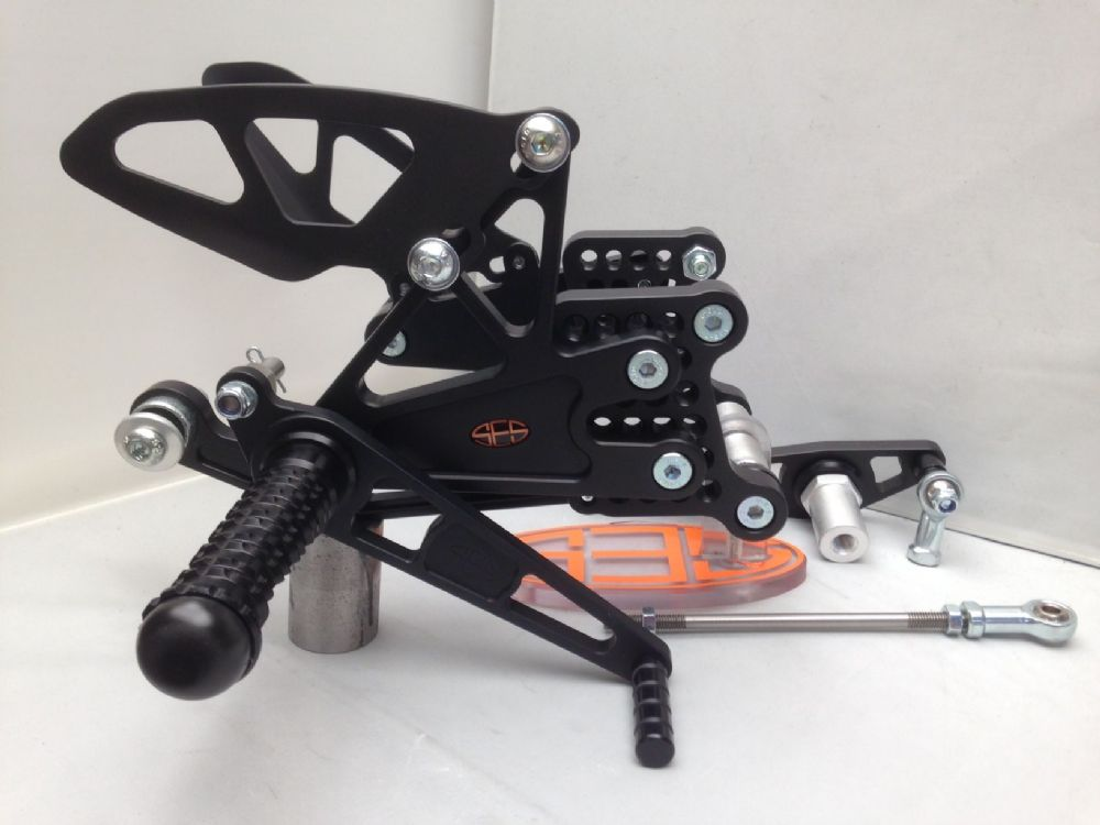Adjustable Rearsets - Triumph 675 (13-16) Race Shift. RST004-R.